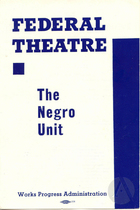 Playbill for WPA Negro Unit's Macbeth by William Shakespeare