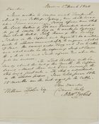 Letter from Alex Forbes to William Leslie, March 5, 1840
