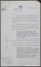 Letter from Governor Richards to Hon. Malcolm MacDonald re: Situation in Jamaica, November 16, 1938