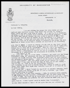 Letter from MG to Sakkie [Prof. I. Schapera], 30 Aug. 1965