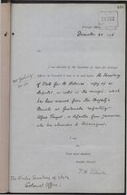 Memo from F. H. Villiers to Under Secretary of State, Colonial Office re: Jamaican Fugitive, Alfred Poujat, December 30, 1896