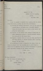 Copy of Letter from John W. Davis to Earl Cuzon of Kedleston re: Tolls for British Merchant Vessels Using Panama Canal, May 28, 1920