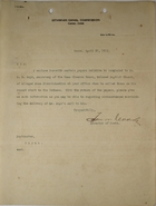 Correspondence re: Alleged Discrimination at Ancón Post Office, April 16-30, 1912