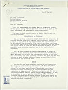 Letter from John M. Clark to John T. Lassiter re: Comments on General Report, March 18, 1943