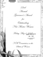 22nd Annual Governor's Award for Outstanding New Mexico Women
