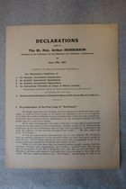 Declarations Made to the Rt. Hon. Arthur Henderson, President of the Conference for the Reduction and Limitation of Armaments on June 13th, 1932