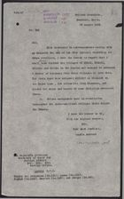 Letter from W. A. Smart to Foreign Office re: Druze Attack Khirbet al Ghazaleh, August 29, 1925