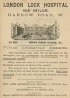 Advertisement for London Lock Hospital and Asylum, Harrow Road, London (engraving)