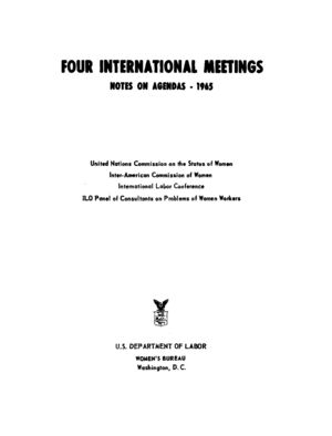 Four International Meetings: Notes on Agendas, 1965