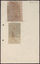 Articles from Various Newspapers re: Military Burials for Chinese Labour Corps Workers, no date