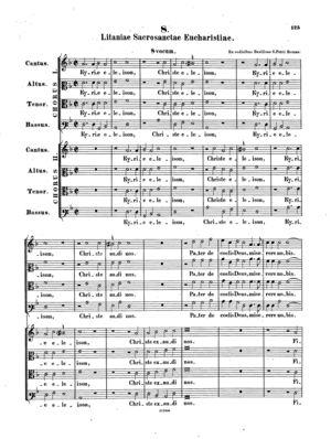 Litaniae sacrosanctae eucharistiae, F, F Major