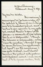 Letter from R. Johnson Mercer to Samuel Pratt Winter, August 3, 1878