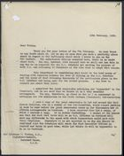 Letter from Henry L. French to Sylvanus P. Vivian re: Misunderstanding Between Food Officers and National Register Officers, February 13, 1939