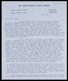 Letter from Ruth [Van Velsen], East African Institute of Social Research, to MG and Mary, 28 May [1959]