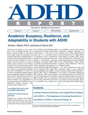 ADHD Report, Volume 22, Number 06, September 2014