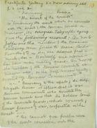 Handwritten Intelligence Report re: Diplomatic Relations Between Germany & Russia Broken Off, November 22, 1918