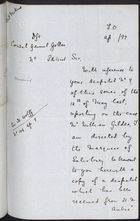 Draft Letter from Foreign Office to Consul General A. Gollan re: Forwarding Letter from Madrid and Requesting Further Report on Gildea Case, April 22, 1897