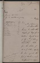 Draft of Letter from Spenser St. John re: Expediency of Concluding Extradition Treaty with Great Britain, 1885
