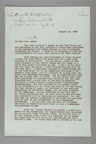 Letter from Josephine Schain to Margery Corbett-Ashby, January 15, 1932