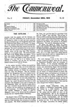 The Commonweal: A Journal of National Reform for God, Crown and Country, Vol. II, No. 52, 25 Dec. 1914