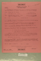 Secret Message from USAIRA Tel Aviv Israel to CSAF Washington DC, March 22, 1957