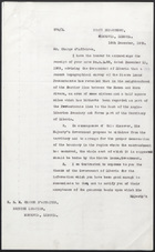 Letter from Edwin Barclay to H.B.M. Charge D'Affaires, December 16, 1929
