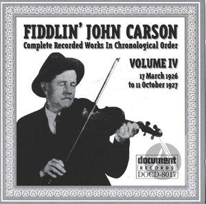Fiddlin' John Carson: Complete Recorded Works In Chronological Order, Vol. 4