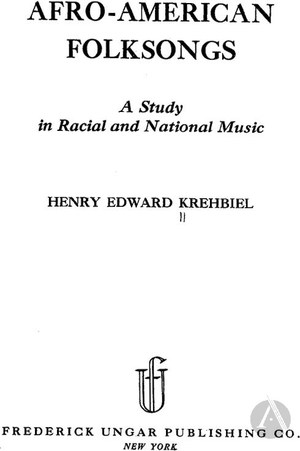 Afro American Folksongs