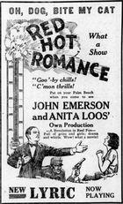 Red Hot Romance (1922): Shooting script