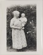 Photograph: Dick (?) with grandmother Lennie Edwards, Cromwell Street (?) circa 1923/24