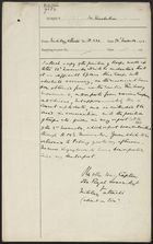 Letter from Captain Otter-Barry to [unknown] re: Position of Troops, November 14, 1911
