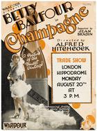 Champagne (1928): Continuity script