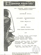 Playbill for Silent Crosswords by Tom McGill and Drum Call by Gbakanda Afrikan Tiata Company, Leeds England, 1988
