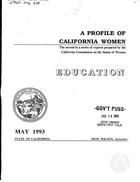 A Profile of California Women