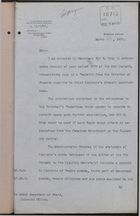 Memo from Foreign Office to Under Secretary of State, Colonial Office, re: Chief Clarence's Indebtedness, March 23, 1907