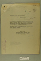 Memo from Henry Jervey re: Firing upon Mexicans by United States Soldiers, June 21, 1918