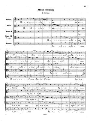 Missa secunda, Op. 26