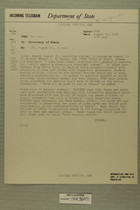 Telegram from Francis H. Russell to Secretary of State, Aug. 21, 1954