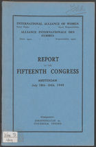 Report of the 15th Congress, IAW