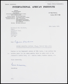 Letter from Basil Wheeler, Secretary, IAI, to MG, 28 Mar. 1973