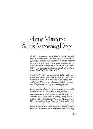 Johnny Mangano & His Astonishing Dogs