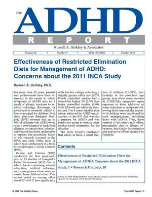 ADHD Report, Volume 20, Number 05, October 2012