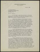 Letter from Jesse L. Nusbaum to Ruth Benedict, May 25, 1931