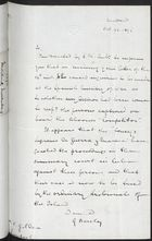 Letter from George Barclay to C. Gildea re: Case of William Gildea, October 22, 1896