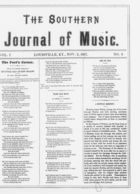 The Southern Journal of Music,  Vol. 1, no. 2, November 2, 1867