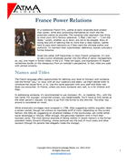 France Power Relations