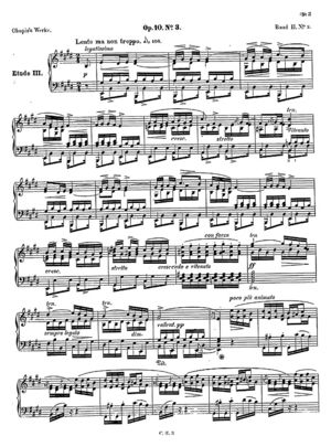 Etude, piano no. 3