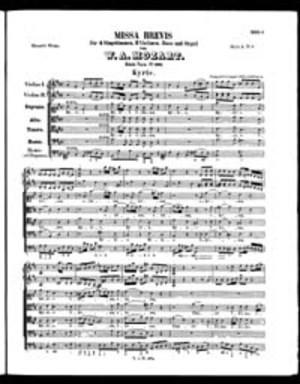 Missa Brevis, K. 194, D Major