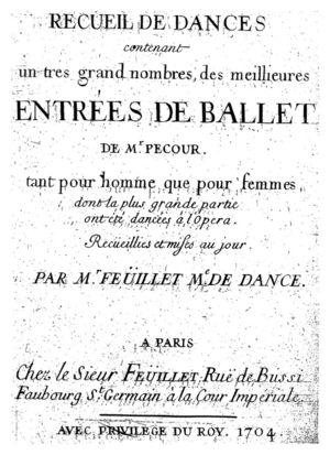 Receuil de dances