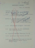 Ambassador's Schedule and Ambassador and Mrs. Meyer's Social Calendar for September 15, 1965
